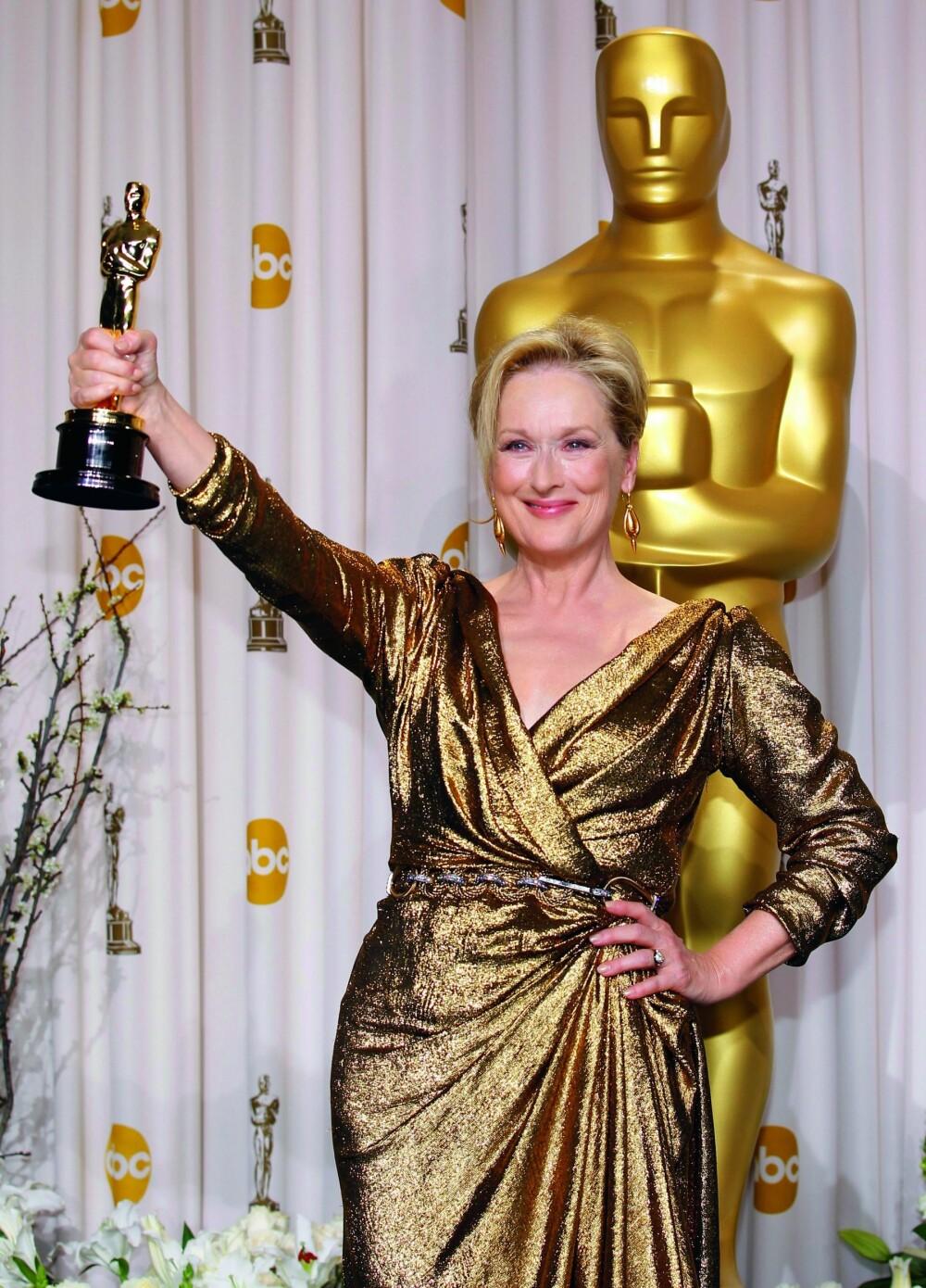 <b>HISTORISK:</b> Meryl Streep er nominert til Oscar 21 ganger, og har vunnet prisen tre ganger. Her i 2012.