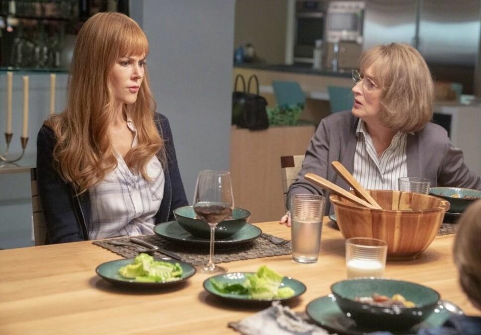 ANSPENT: Meryl Streep spiller Nicole Kidmans svigermor i «Big Little Lies». De to har et anstrengt forhold.