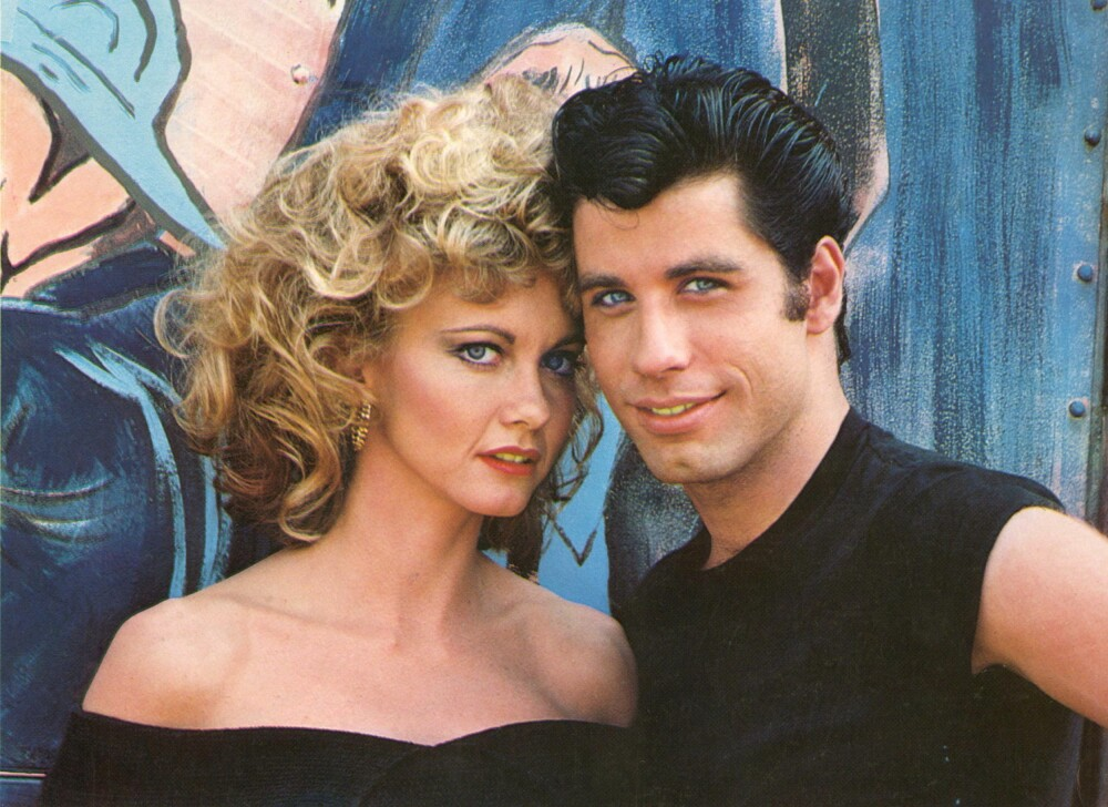 Olivia Newton John og John Travolta i «Grease».