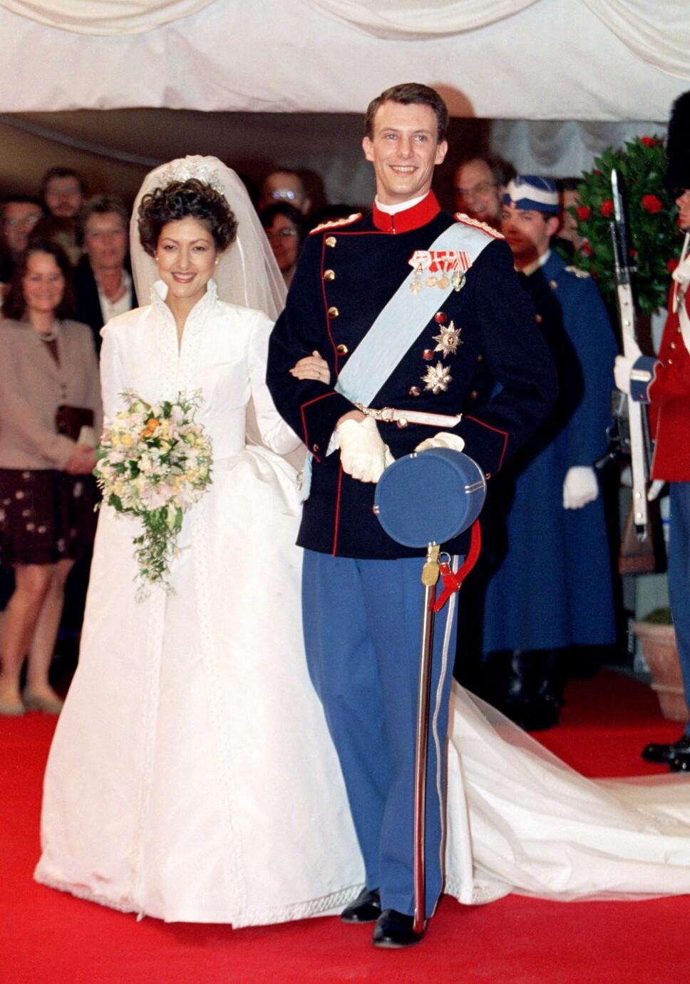 DRØMMEBRYLLUP: Prins Joachim og vakre Alexandra giftet seg i 1995. Men ti år senere var ekteskapet over.