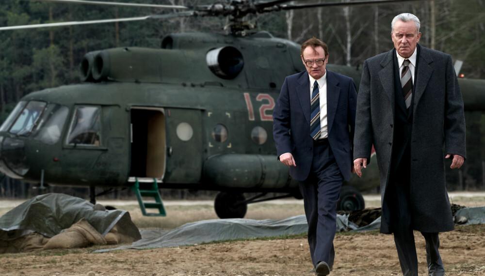 Jared Harris og Stellan Skarsgård har to av hovedrollene i den mye omtalte serien «Chernobyl».