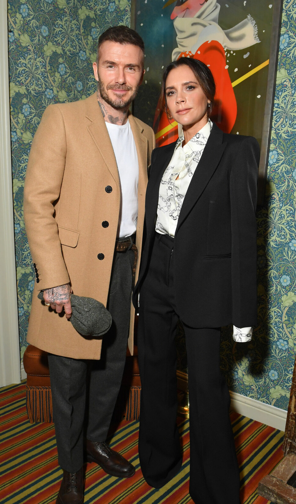 Victoria og David er ofte å se på offentlige tilstelninger sammen. Her fra etterfesten for Victoria Beckham x YouTube Fashion & Beauty under London Fashion Week i februar 2019.