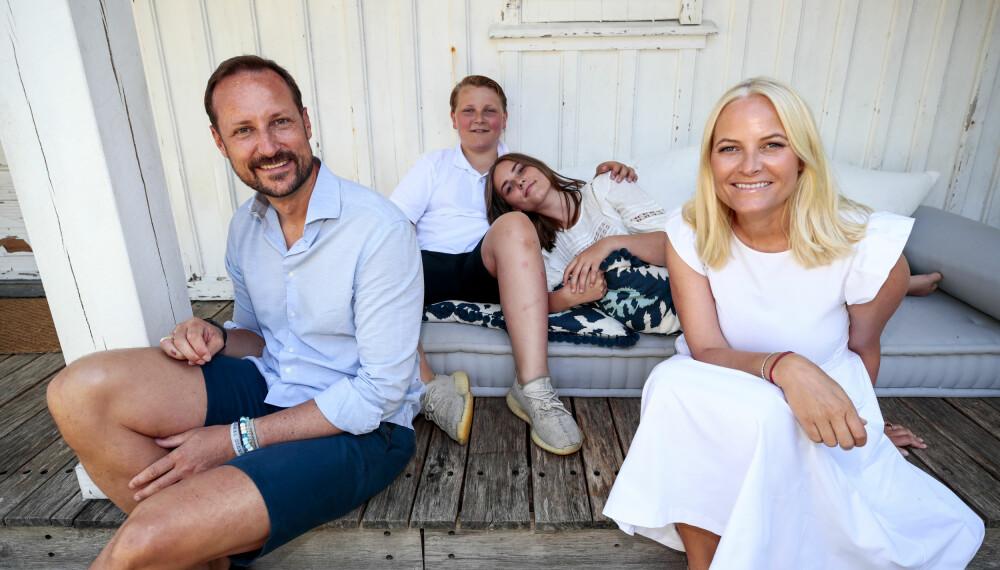 Haakon, Sverre Magnus, Ingrid Alexandra i Mette-Marit.