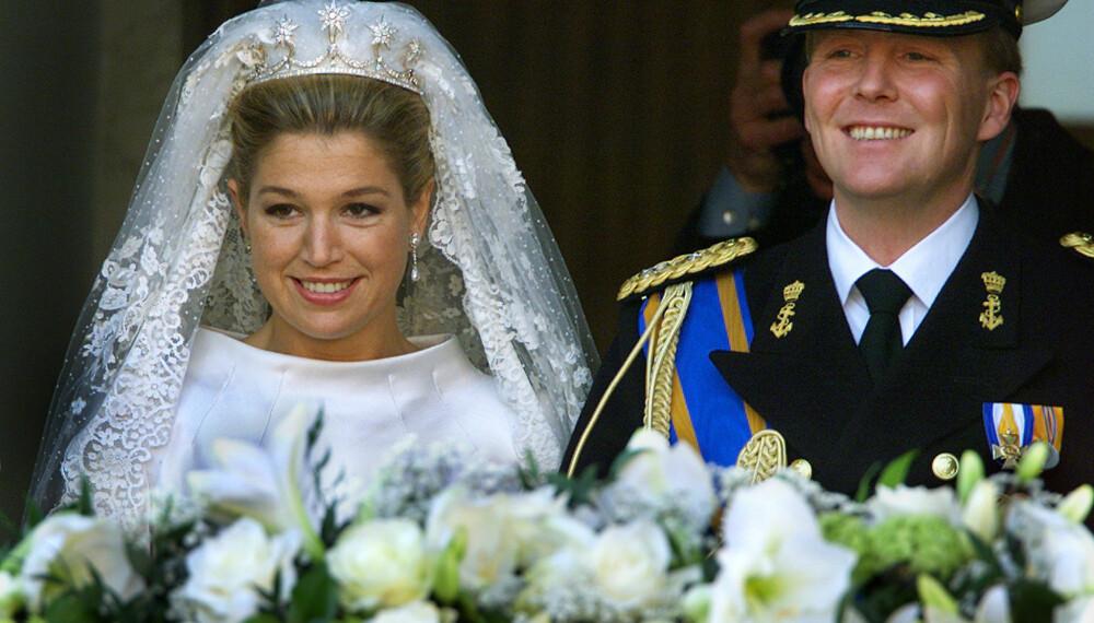 OPPDATERT: Dronning Maxima bar en oppdatert, gammel tiara fra begynnelsen av 1800-tallet da hun giftet seg med Willem-Alexander i 2002.