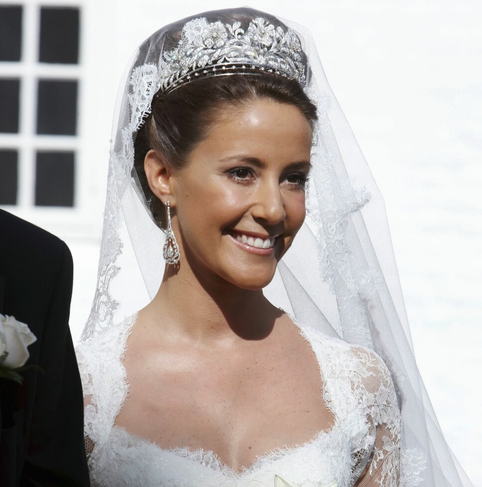 PRINSESSE MARIE: I tiaraen til prinsesse Dagmar i bryllupet sitt i 2008.