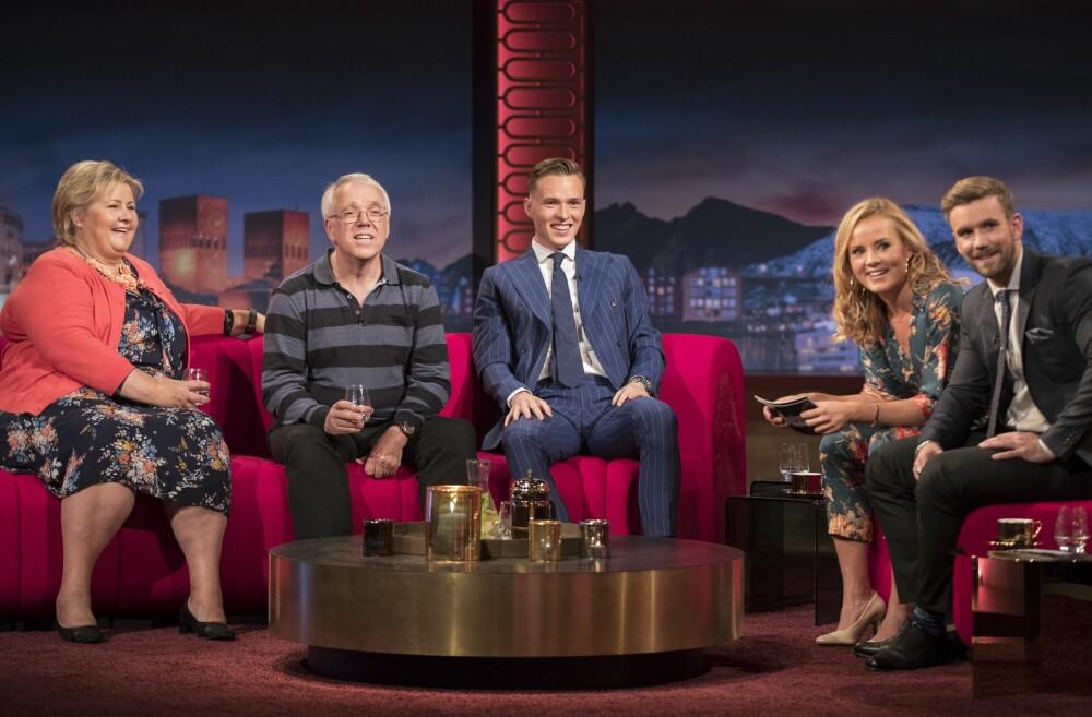 SUKSESS: I to sesonger har Helene og makker Stian Blipp ledet «Senkveld» på TV 2.