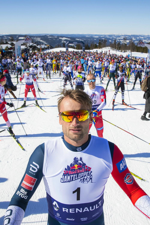 <b>EGET RENN:</b> For andre år på rad arrangerte Petter Northug skifestivalen Jante-loppet på Hafjell rett før påske. 1500 ivrige skiløpere deltok,deriblant flere verdensstjerner.