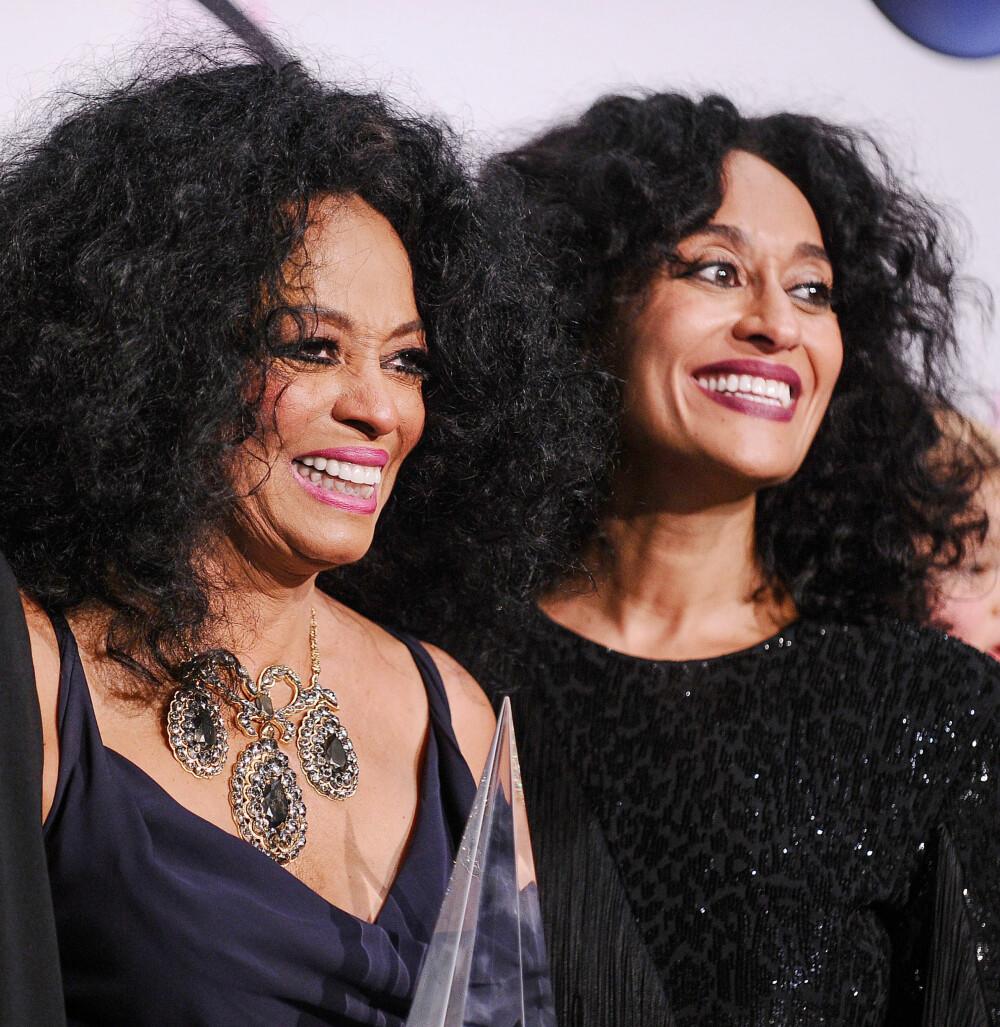LIKE: Diana Ross (75) og datteren Tracee Ellis Ross (46).