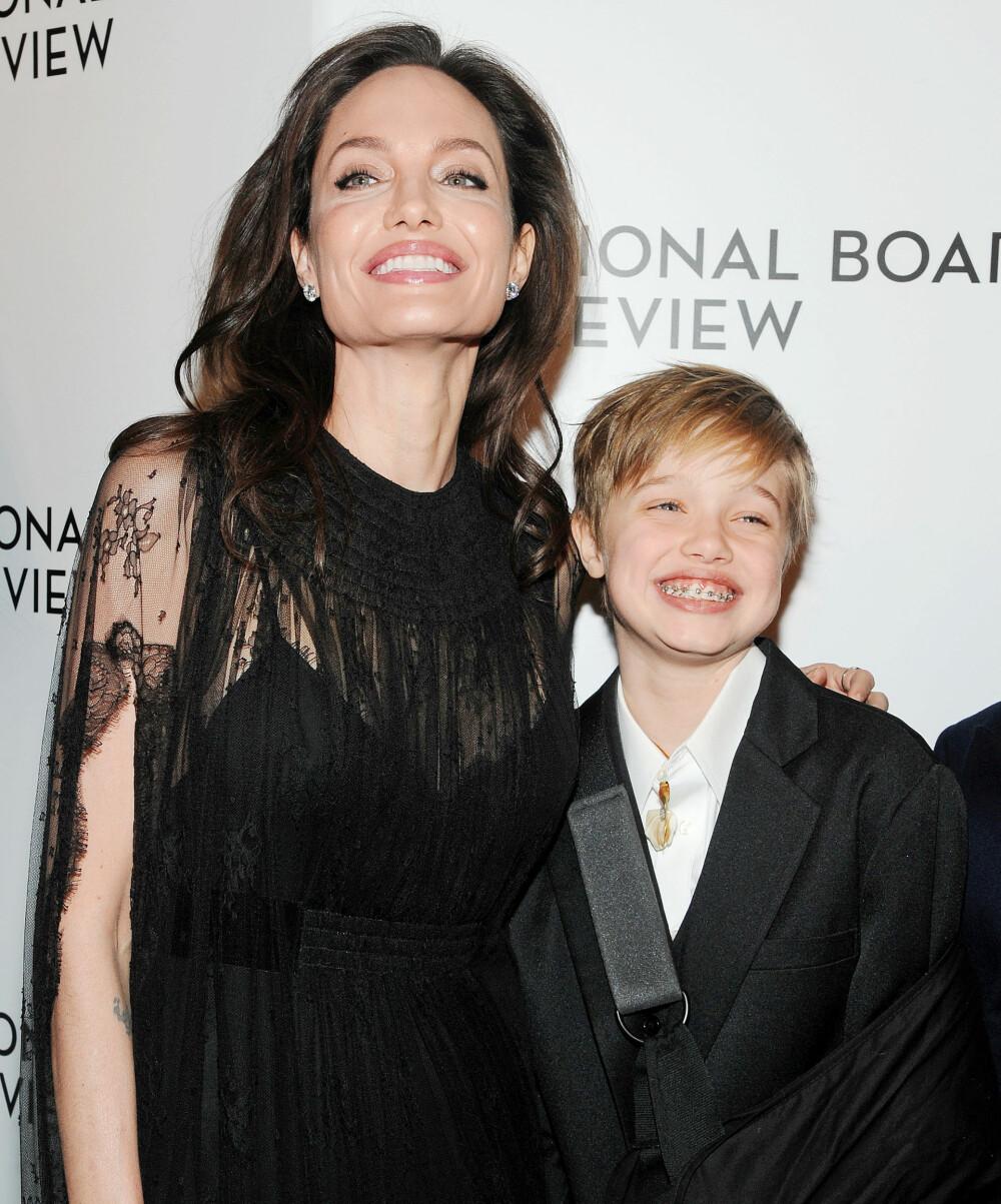 SJEKK DET SMILET: Angelina Jolie og Shiloh Jolie-Pitt.