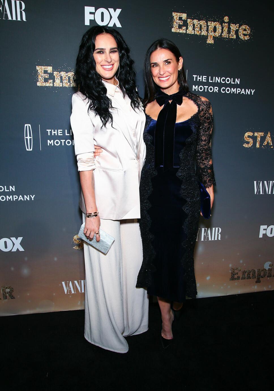 SKJØNNHETER: Rumer Willis og mamma Demi Moore er like flotte.