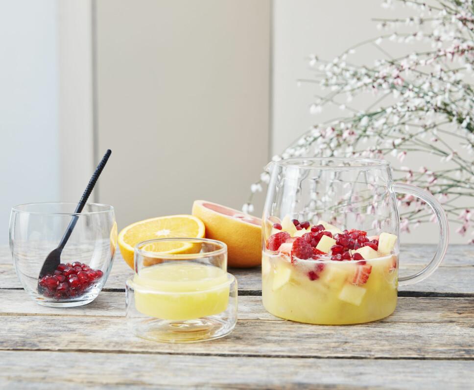 Frisk frukt-punsj.