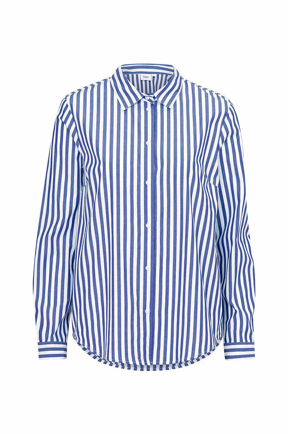 STILIGE STRIPER: Skjorte fra Saint Tropez, Ellos, kr 349.