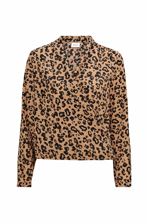 Leopardmønstret bluse, kr 350 fra Vero Moda.