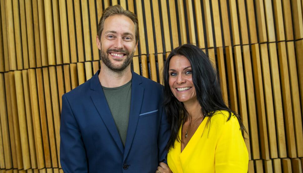 SPENT DUO: Anders Hoff og Katrine Moholt leder årets «Skal vi danse», og gleder seg til en spennende dansehøst uten for mange feiltrinn.