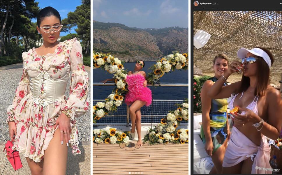 LITT AV EN UKE: Kylie Jenner har feiret 22-årsdagen sin med et skikkelig brak sammen med familie og venner, på en milliardyacht langs den italienske kysten og over mot Frankrike.