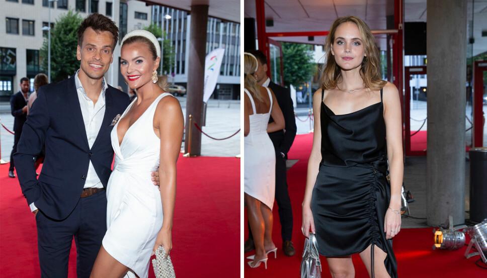MØTTE PRESSEN: Profilene fra TV 2s «Bloggerne» på den røde løperen under TV 2s store høstfest i Bergen.