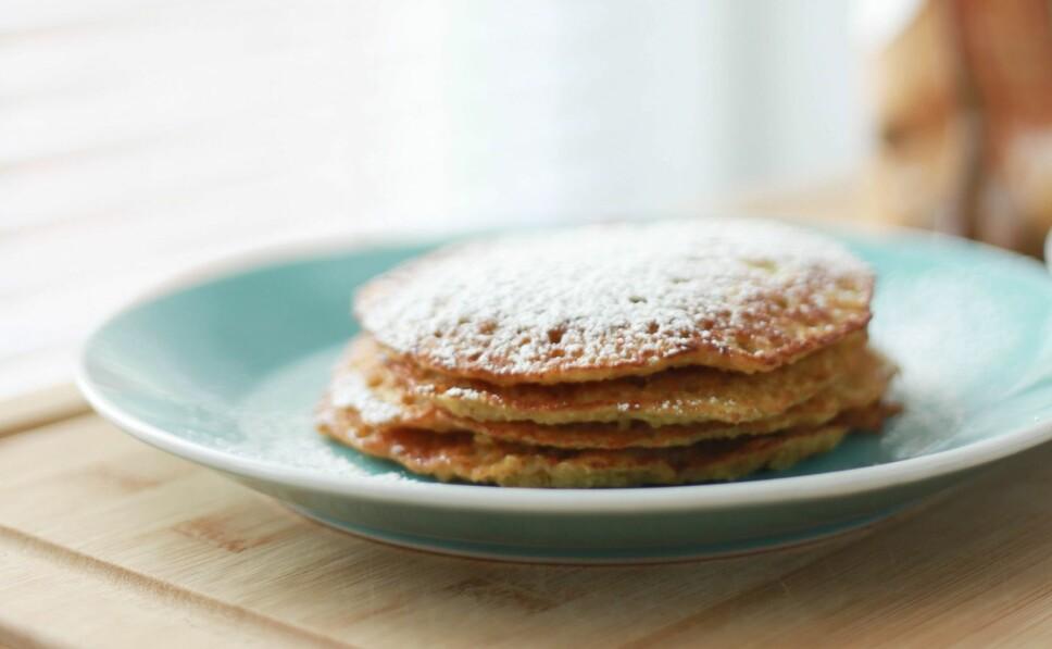 BANANPANNEKAKER: Superenkelt å lage og perfekt som frokost, lunsj eller kveldsmat.
