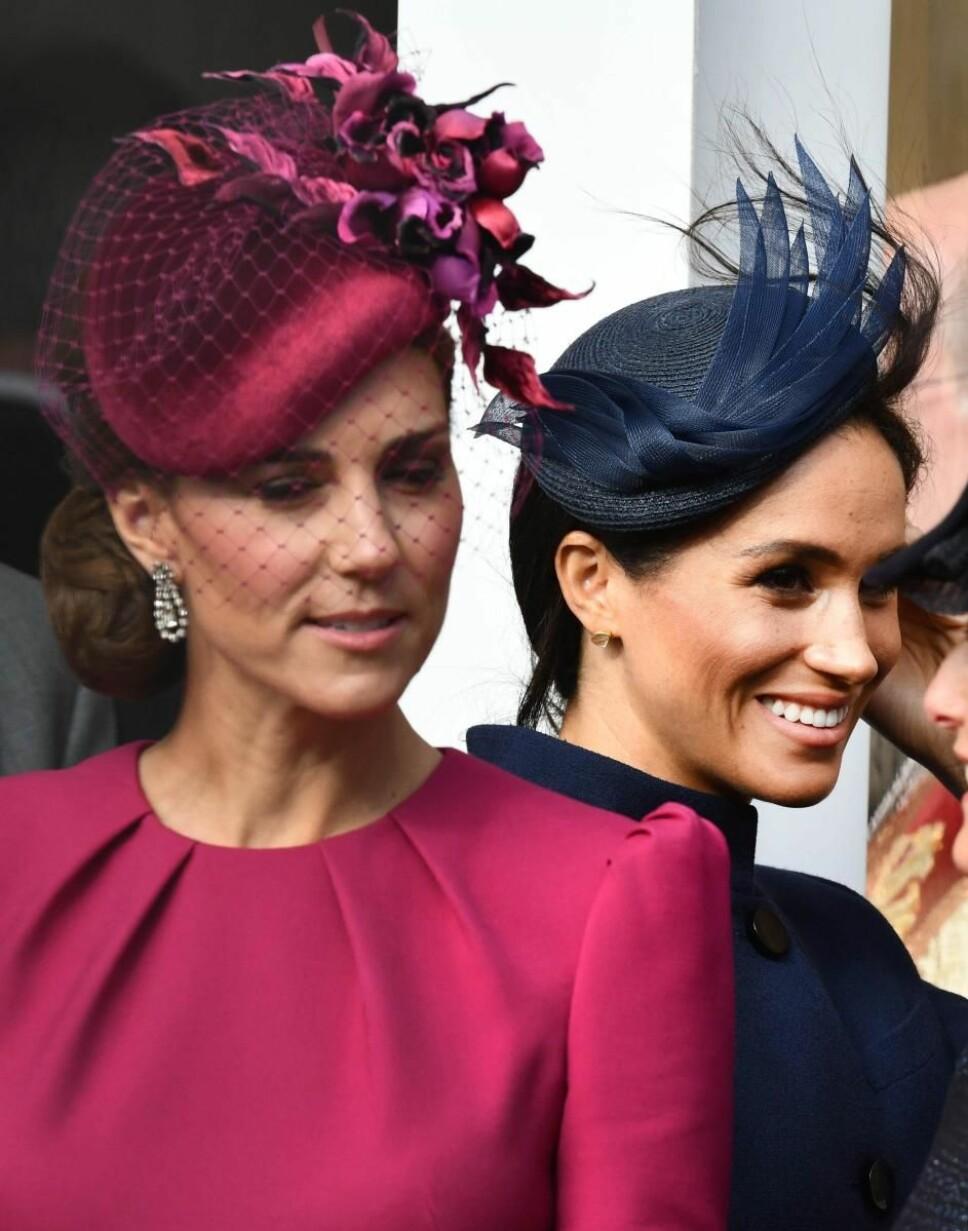 RIVALER: Kanskje føler begge hertuginnene at den andre stjeler for mye plass i rampelyset?