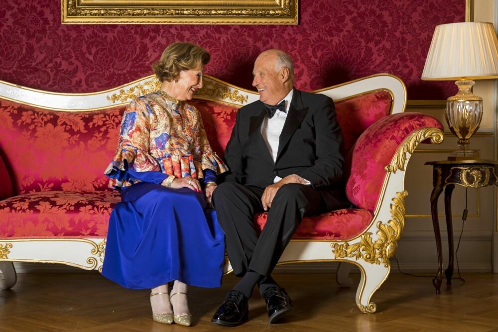 PRIVAT FEIRING: Kongen og dronningen kommer til å feire torsdagens bryllupsdag privat sammen med sine nærmeste.