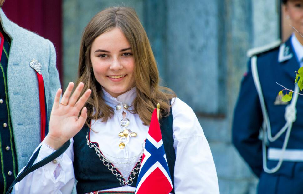 KONFIRMANT: Prinsesse Ingrid Alexandra konfirmeres lørdag 31. august Her fotografert i anledning 17. mai.
