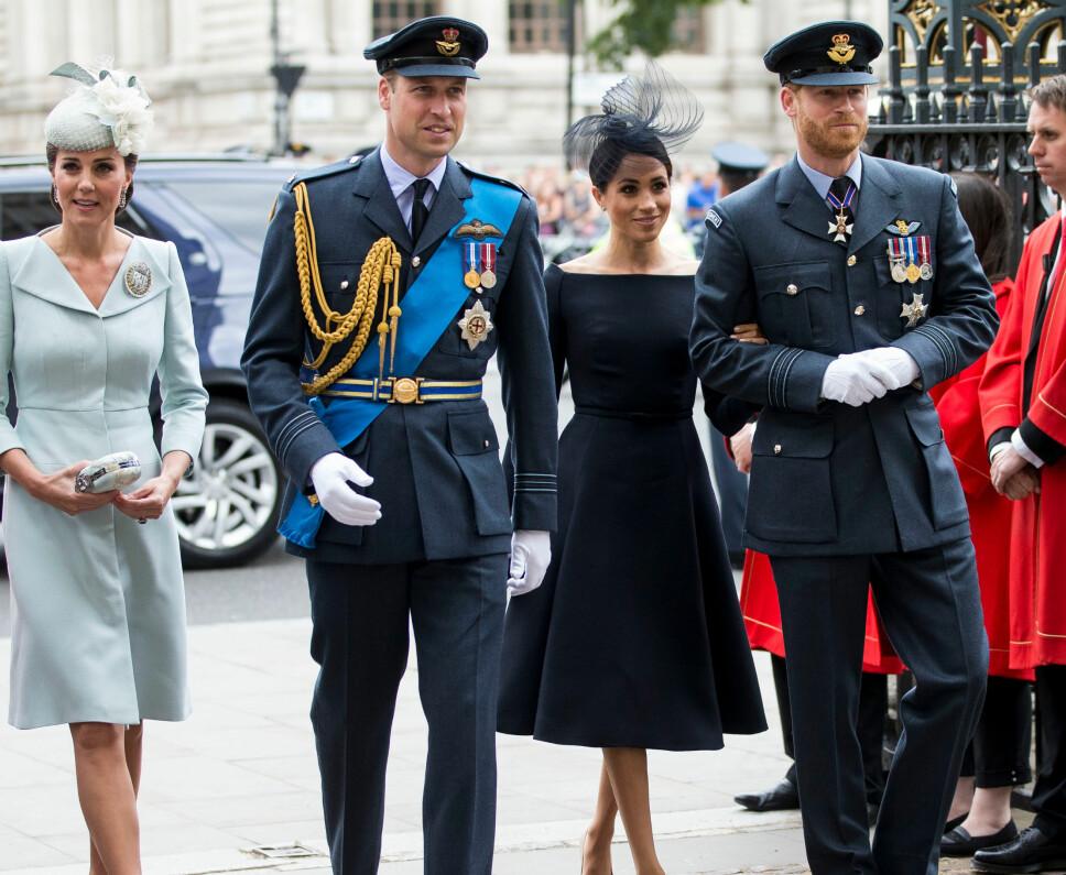 ISFRONT? Det skal angivelig ikke bare være god stemning mellom hertugparene Kate og William og Meghan og Harry, skal vi tro en rekke internasjonale medier.
