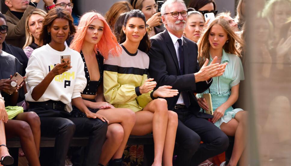 PÅ FØRSTE RAD: Selv om Kendall Jenner har vært til stede under flere visninger under NYFW, har det ikke vært som modell, men som gjest.