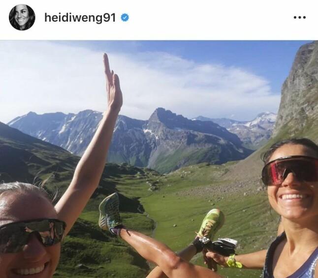 TOUR DE FRANCE: Heidi Weng har syklet i bratte bakker i Frankrike sammen med storesøster Merete. Det har også blitt kvalitetstid sammen med Maiken Caspersen Falla.