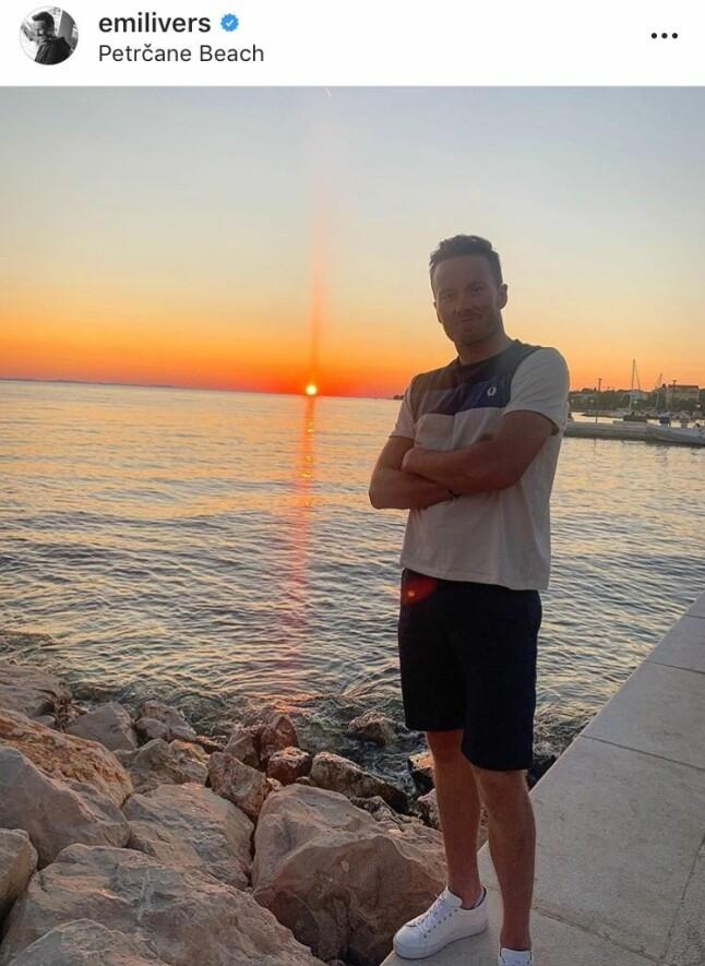 FULL ACTION: Emil Iversen så ut til å storkose seg ved Kroatias kyst. Det ble også tid til fartsfylte aktiviteter hjemme i Meråker sammen med brødrene Gaute og Mats.
