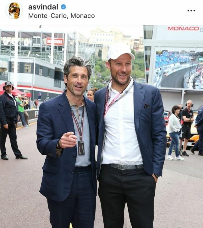 KJENDISTREFF: Aksel Lund Svindal traff Hollywood-stjernen Patrick Dempsey i Monaco. Etter det nøt han sommeren på idylliske Koster-øyene i Sverige.
