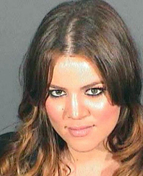 FYLLEKJØRTE: Khloe Kardashian ble arrestert for fyllekjøring i Los Angeles i 2007.