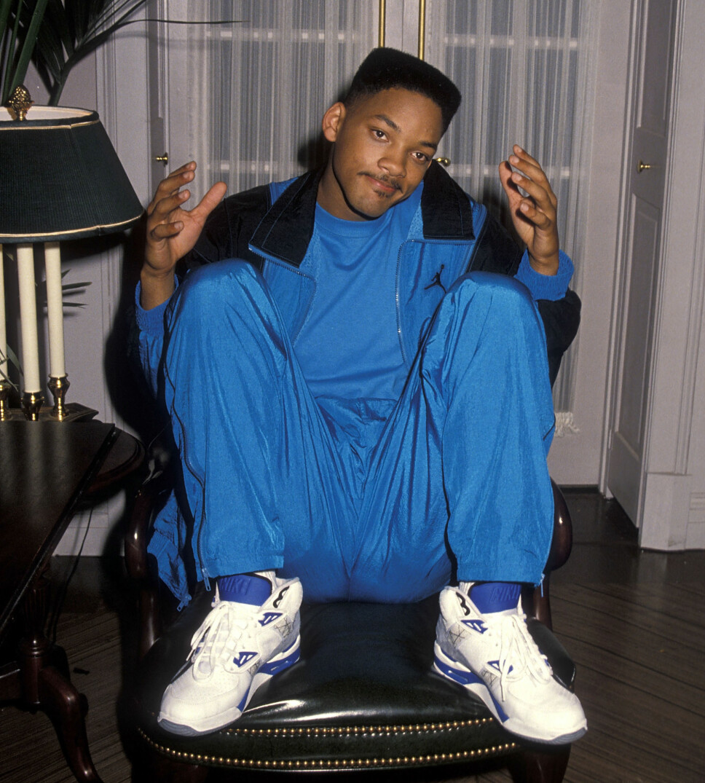 FRESH PRINCE: Skuespiller og artist Will Smith ble enormt populær gjennom den ikoniske TV-serien «Fresh Prince of Bel Air». Han var ofte å se i chunky sneakers, gjerne fra Nike/Air Jordan.