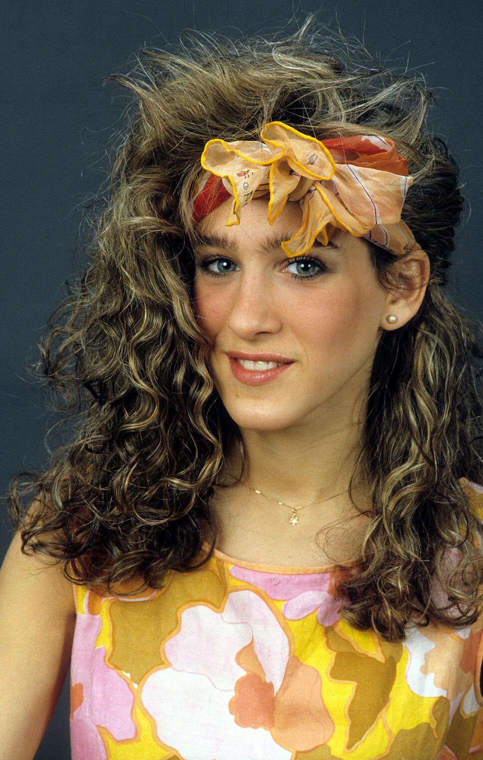 MOTERIKTIG: Sarah Jessica Parker var på 80-tallet, som alltid, moteriktig. Her er skuespilleren avbildet 1985.
