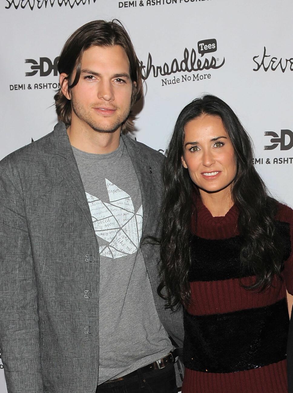 VAR GIFT: Demi Moore kommer med sterke påstander om utroskap mot eksmannen Ashton Kutcher. De var gift fra 2005-2013.