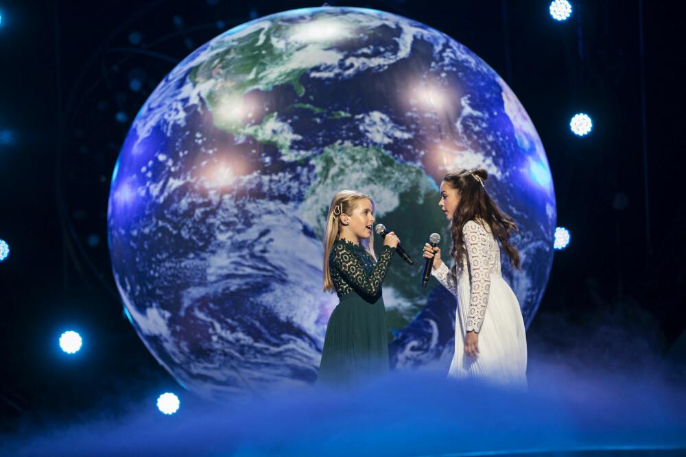MILJØBEVISST: Anna og Emma er sterkt engasjert i miljøet. Duoen har et viktig budskap i MGPJr-låten «Kloden er syk».