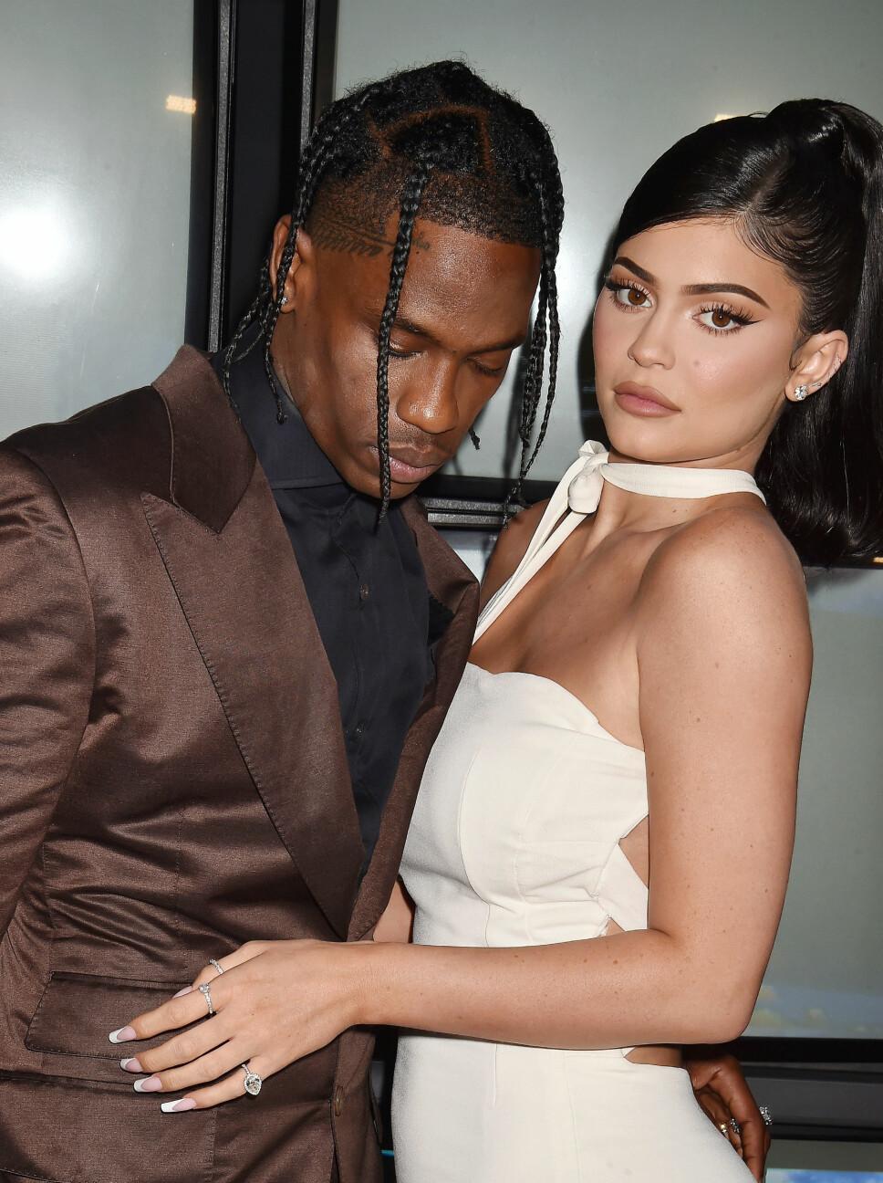 SIST SETT SAMMEN: Travis Scott og Kylie Jenner var sist å se sammen under premieren på «Look Mom, I Can Fly» i slutten av august