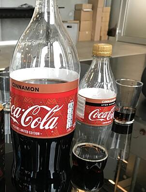 TIL TESTING: De to cola-typene som skulle til pers i Side2s test.