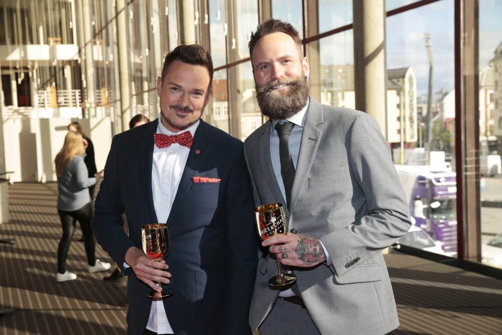 BESTEVENNER: Tore Petterson og Adam Schjølberg har et nært vennskap. Her fra Gullruten i Grieghallen i 2016.
