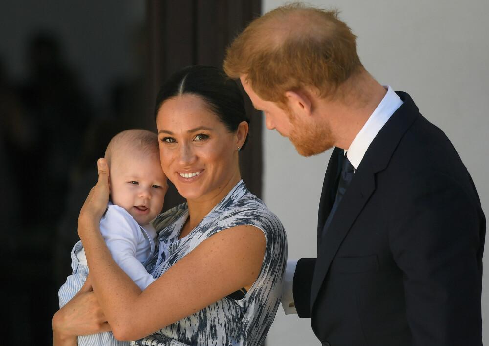 <b>VIL SKJERME SEG:</b> Hertuginne Meghan og prins Harry velger å trekke seg tilbake fra rampelyset i seks uker for å få familietid med lille Archie.
