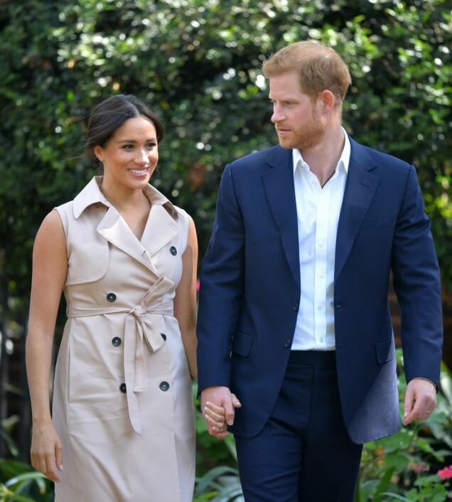 <b>BESKYTTENDE:</b> Prins Harry er redd for at pressen skal «jakte» på Meghan på samme måte som de fulgte etter hans mor Diana.