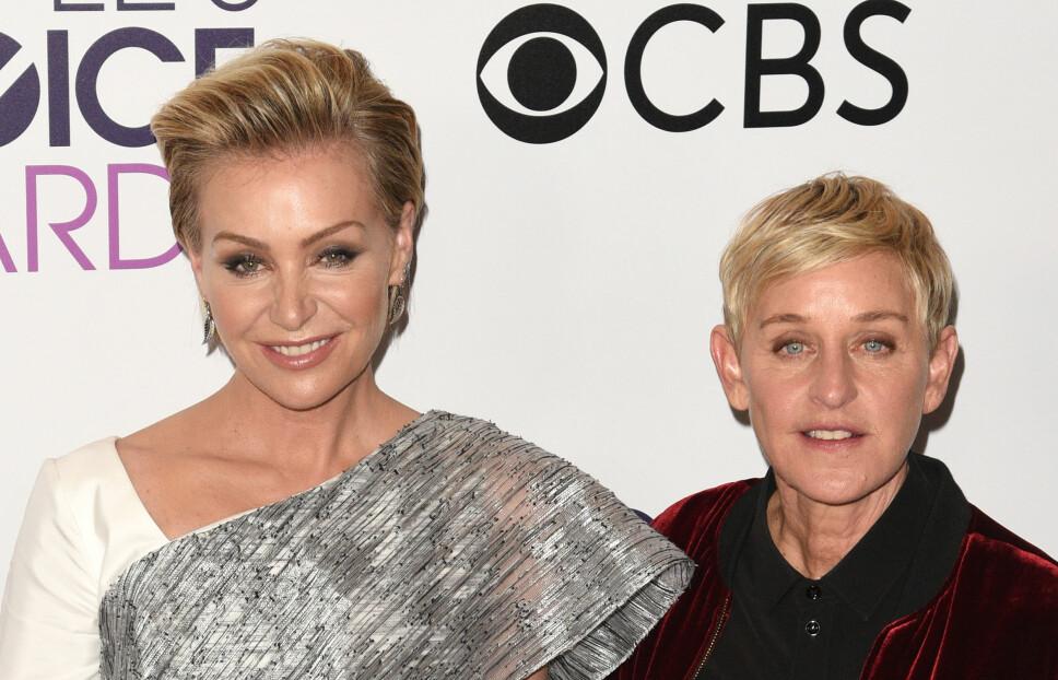 SAMMEN SIDEN 2004: Portia de Rossi og Ellen DeGeneres.