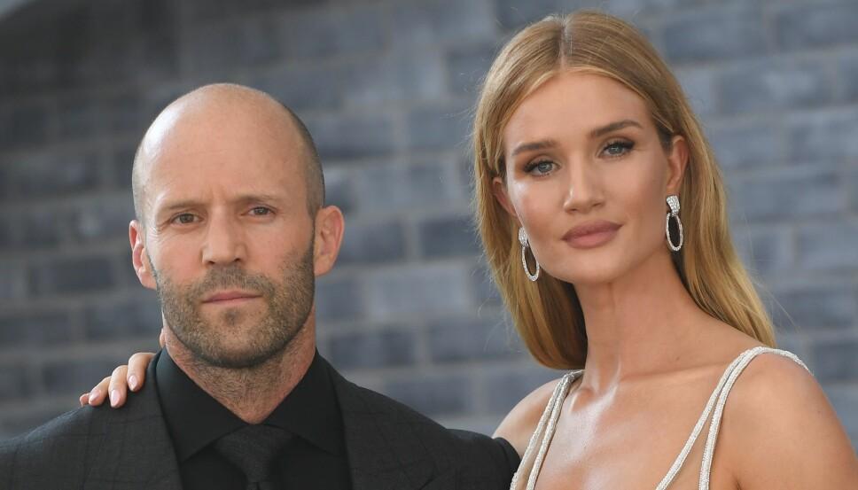 FANT TONEN: Jason Statham og modell Rosie Huntington-Whiteley.