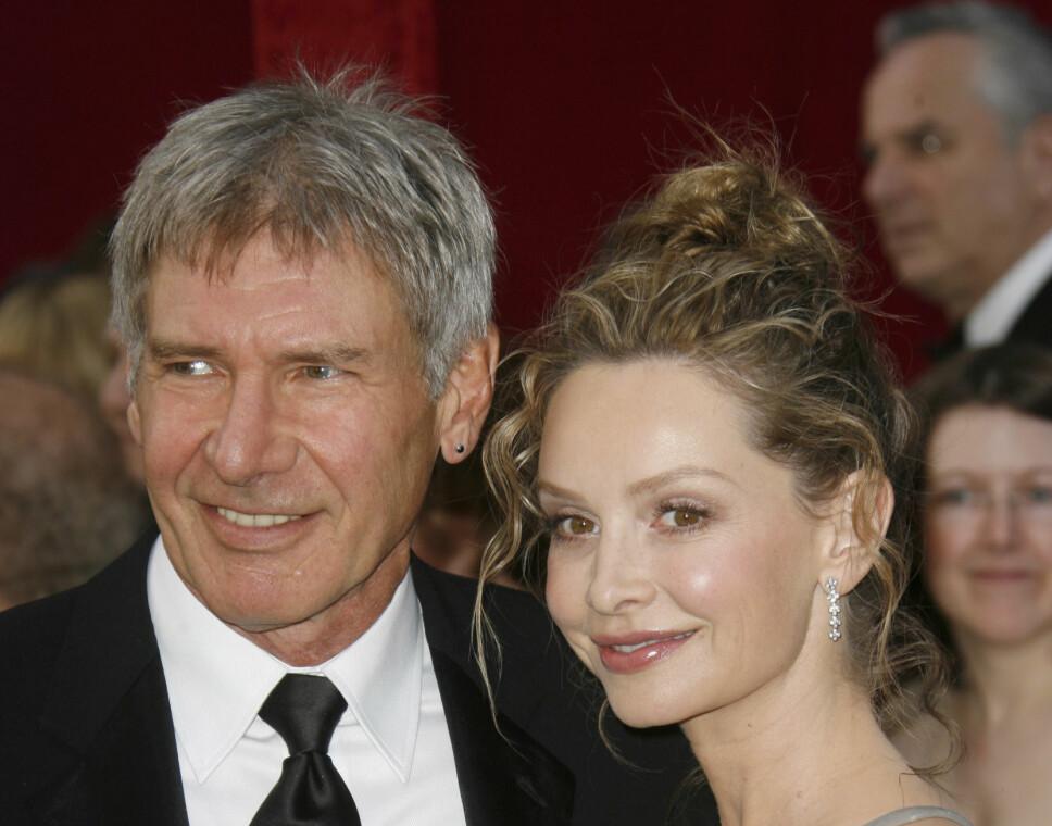 GIFT SIDEN 2010: Harrison Ford og Calista Flockhart har vært et par siden begynnelsen av 2000-tallet. Her er de avbildet sammen i 2008.