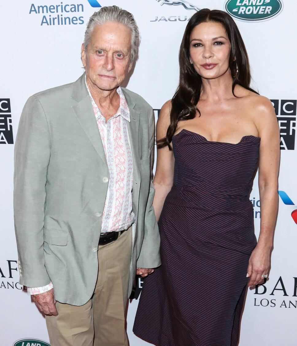 SAMMEN I 20 ÅR: Michael Douglas (75) og Catherine Zeta-Jones (50) har vært gift siden 2000, og Catherine har alltid sett på alderforskjellen deres som fullstendig uproblematisk.