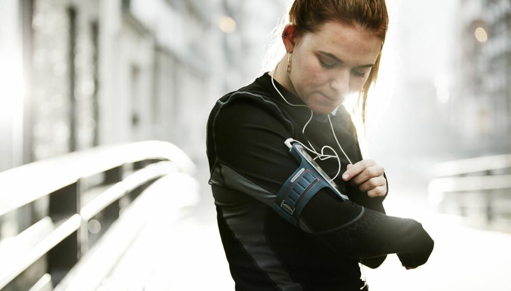 MOTIVASJONSBOOST: EN treningsapp som hjelper deg å måle aktivitet og logge trening, kan være en motivasjonsfaktor for å komme seg ut.