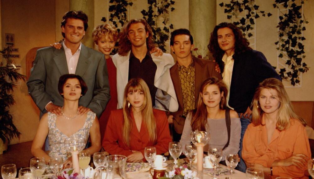 HELENE OG GUTTA: Skuespillerne i den franske serien poserer i 1993.