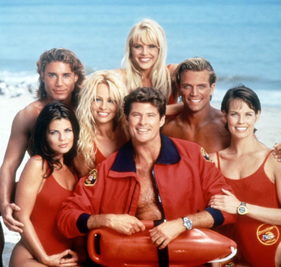 «BAYWATCH»: Casten i populære «Baywatch», som gikk sin seiersgang på 90-tallet.