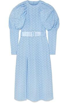 Himmelblå kjole med vintagepreg fra Rotate Birger Christiensen hos NEt-a-porter.com, kr 2910.