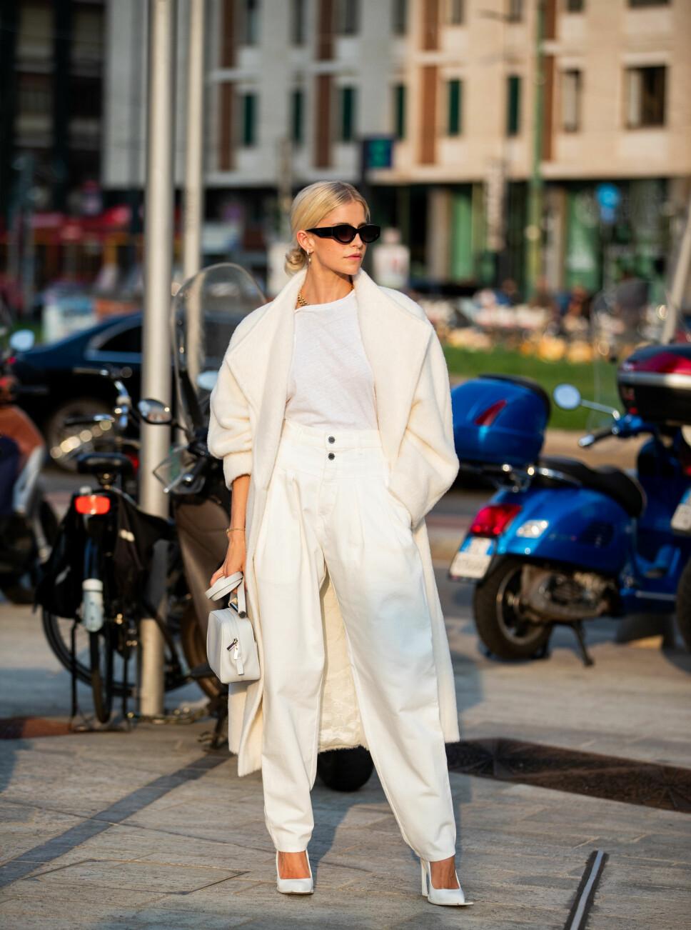 STREETSTYLE: Caroline Caro Daur under Milan Fashion Week i september 2019.