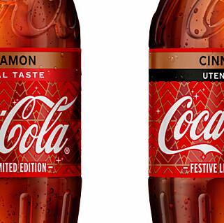 Coca-Cola med kanelsmak lanseres i Norge